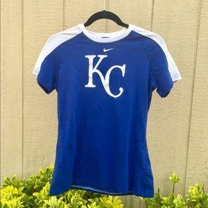 MLB Nike KC Kansas City Royals Tee Shirt Womens